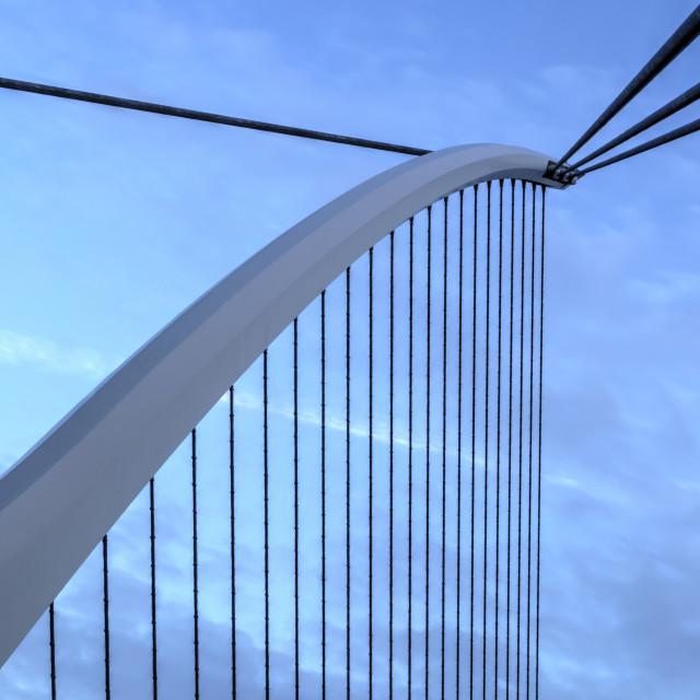 """The Harp Samuel Beckett Bridge"" stock image"