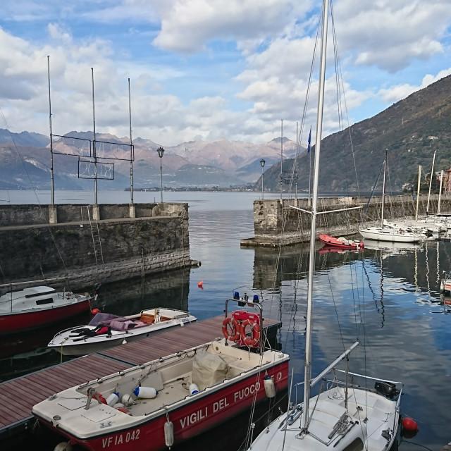 """Lake Como Harbour"" stock image"