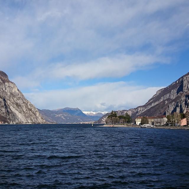 """""""Lake Como and mountains"""" stock image"""