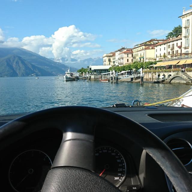 """Lake Como Car Ferry"" stock image"