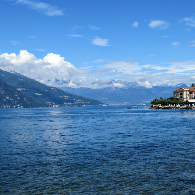 """Lakeside village Lake Como"" stock image"