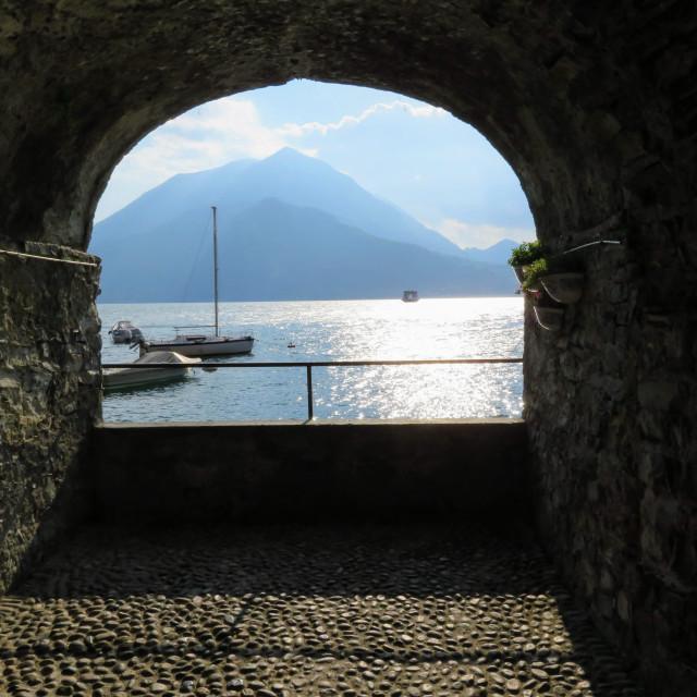 """Portal to Beauty at Lake Como"" stock image"