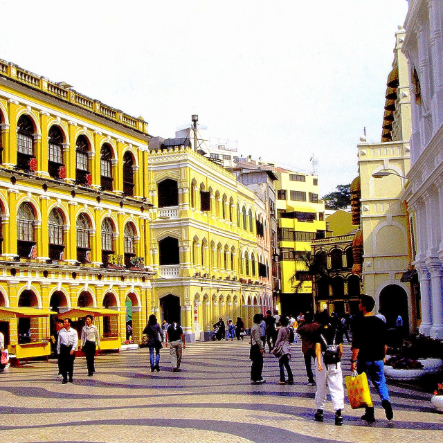 """Macau's charming Senado Square is one of the old city's main attractions"" stock image"