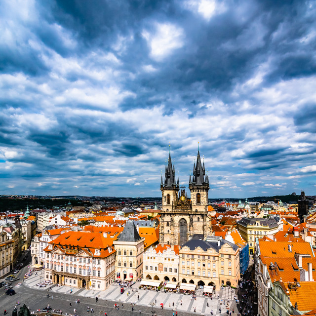 """Prague Old Town Square"" stock image"