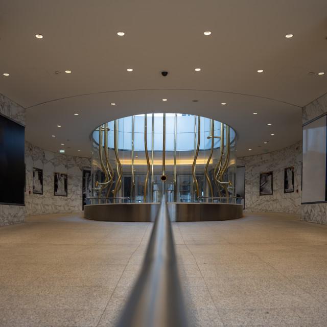 """Interior of a contemporary building"" stock image"