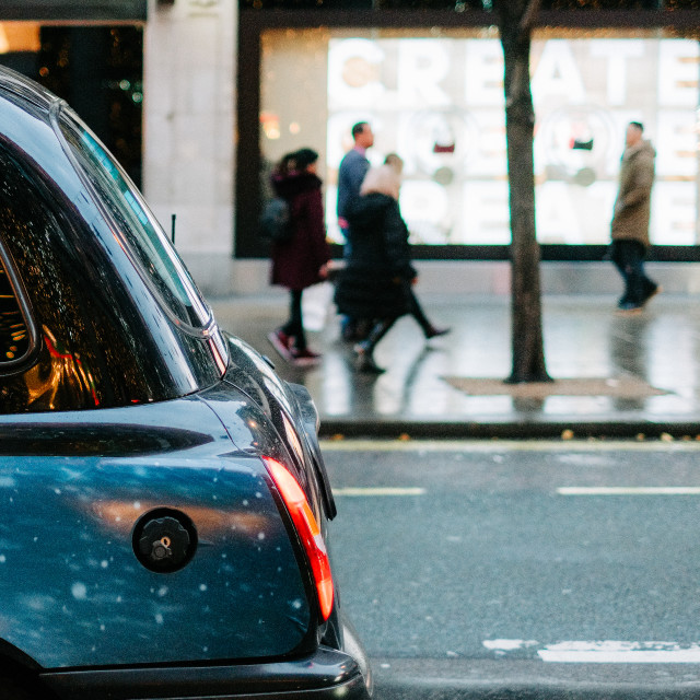 """Taxy Cab in London"" stock image"