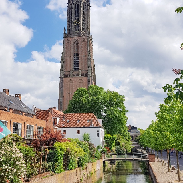 """The Onze-Lieve-Vrouwetoren (The Tower of Our Lady) in Amerfoort"" stock image"