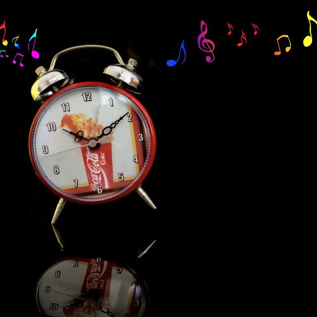 """Dancing Coke Clock Collectible"" stock image"