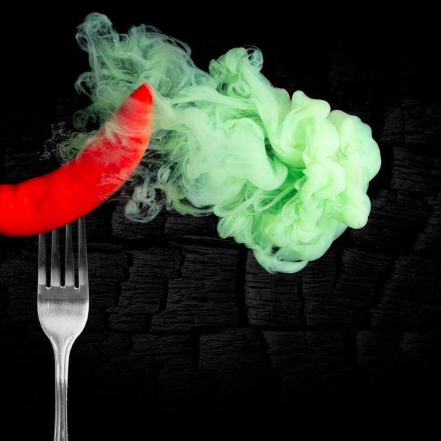 """""""Artistic chilli pepper"""" stock image"""