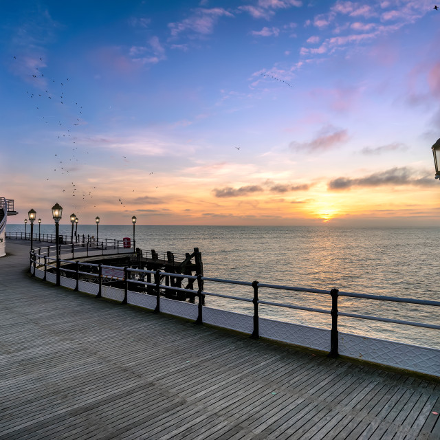 """""""Worthing sunset at the pier"""" stock image"""