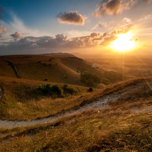 """Devil's Dyke, Sussex"" stock image"