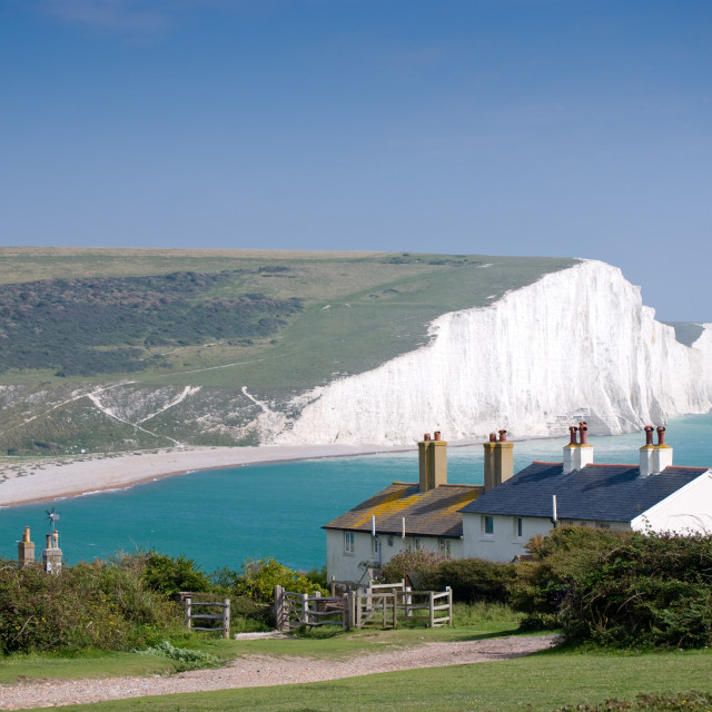 """""""Seven Sisters cliffs"""" stock image"""