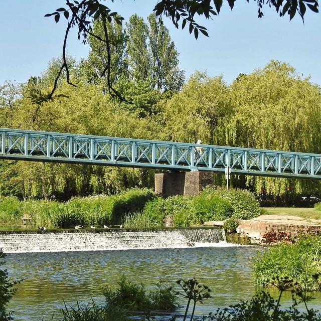 """Mortain Bridge."" stock image"