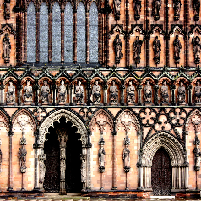 """West Front of Lichfield Cathedral"" stock image"
