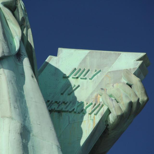 """""""liberty statue july iv"""" stock image"""