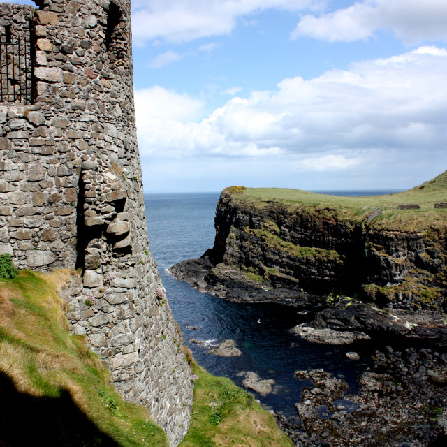"""""""Dunluce Castle on the coast of country Antrim, Northern Ireland"""" stock image"""