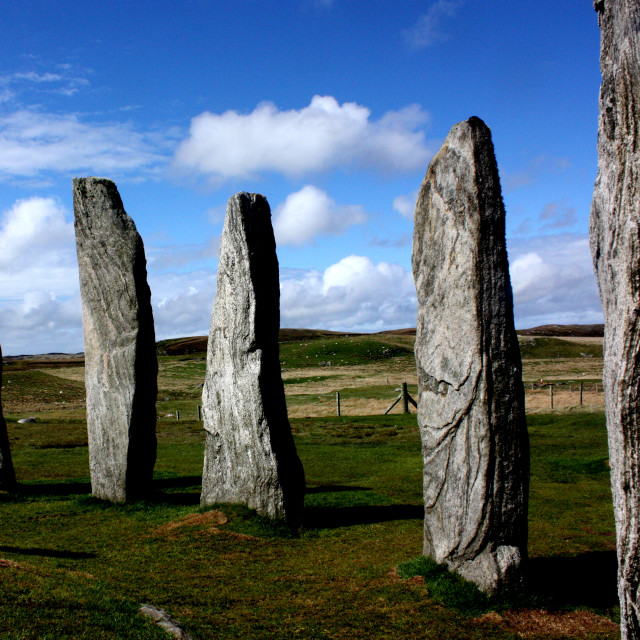 """""""The Stone Circle at Callanish on the Isle of Lewis"""" stock image"""