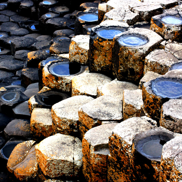 """""""Part of the Giant's Causeway in Northern Ireland"""" stock image"""