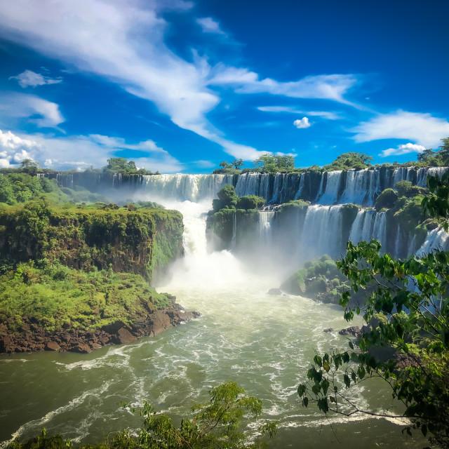 """Iguazú falls"" stock image"