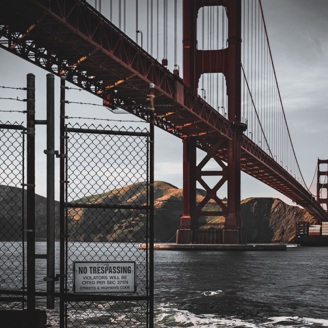 """Golden bridge"" stock image"