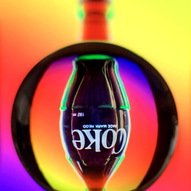 """Coke Refraction 01"" stock image"