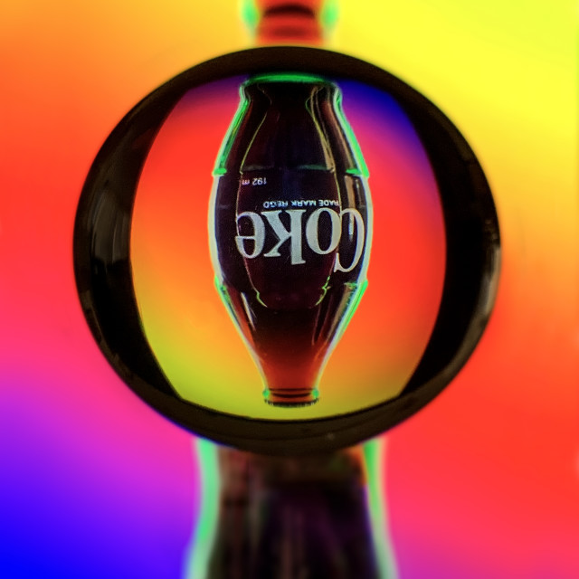 """Coke Refraction 02"" stock image"