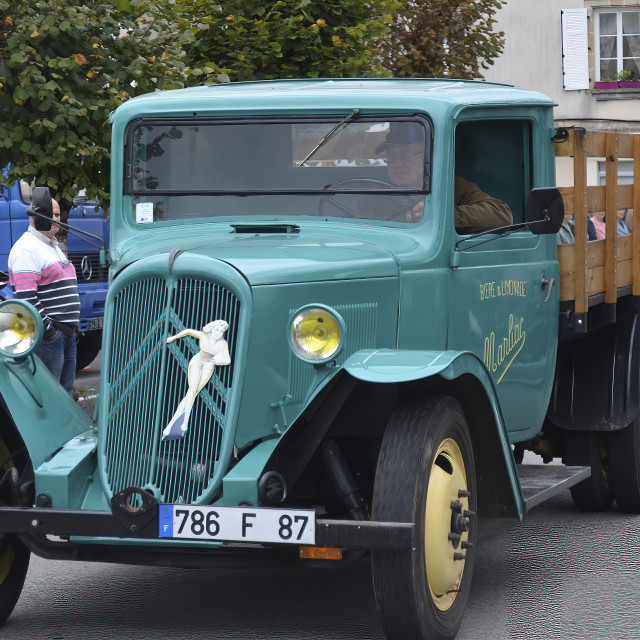 """""""Vintage French Truck"""" stock image"""