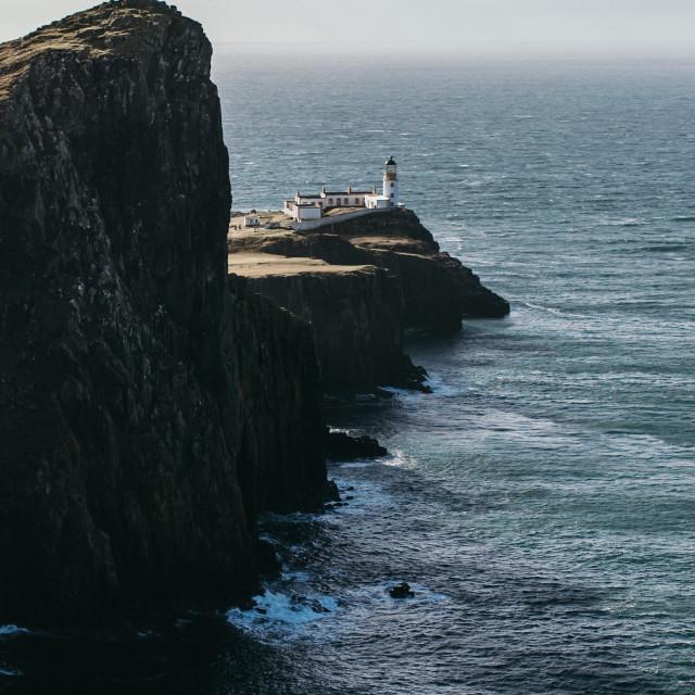 """Neist Point Lighthouse, Isle of Skye"" stock image"