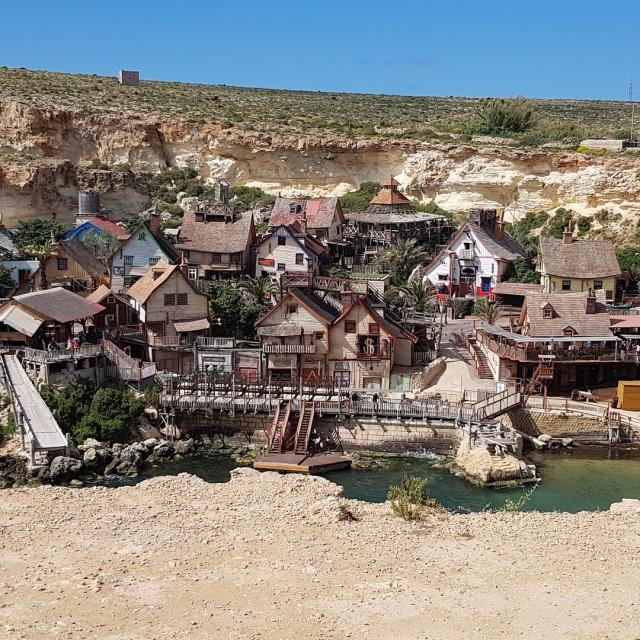 """Popeye Village, Malta"" stock image"