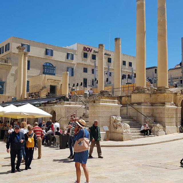 """""""Royal Opera House, Valletta, Malta"""" stock image"""