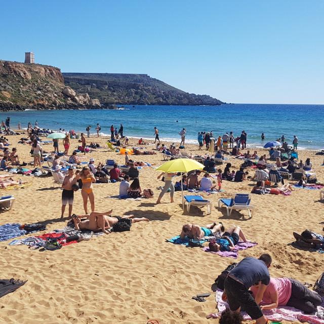 """Golden Bay, Malta"" stock image"