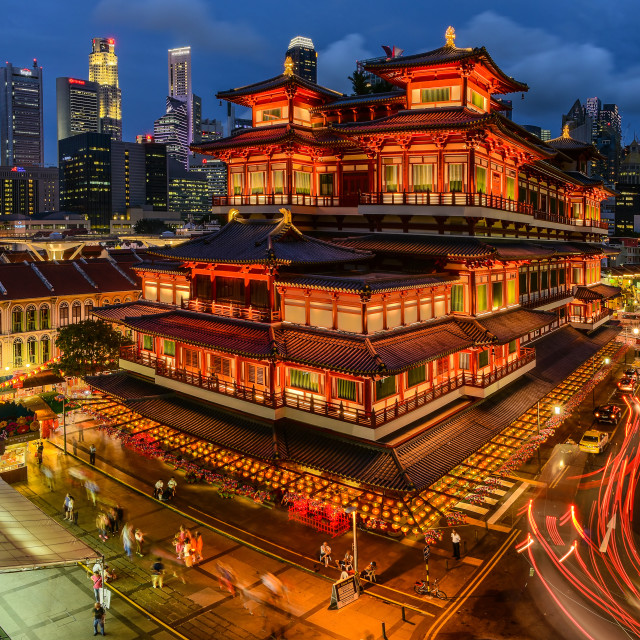 """""""Buddha Tooth Relic Temple"""" stock image"""