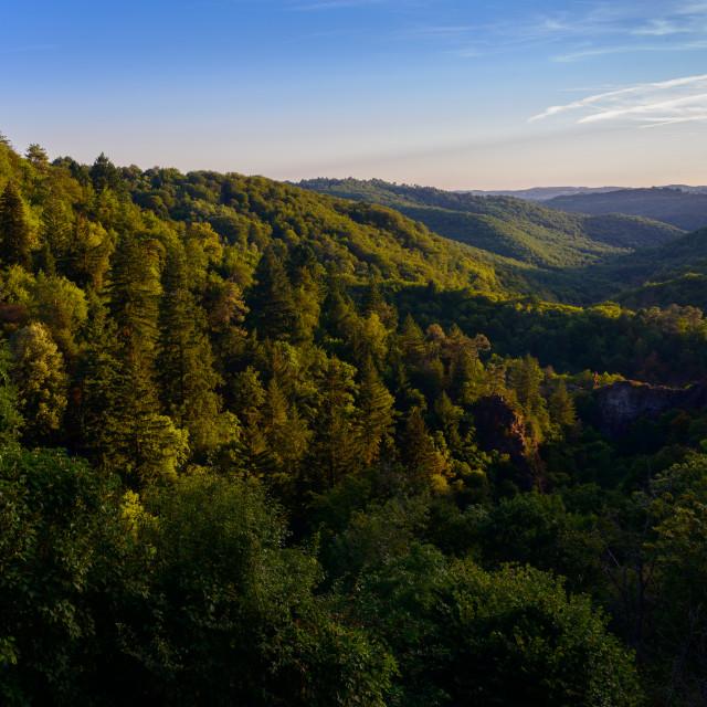 """Gimel-les-Cascades"" stock image"