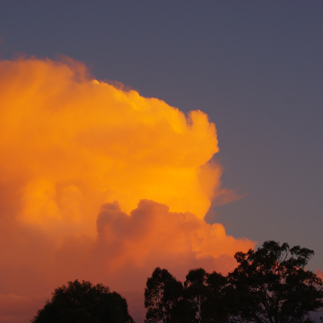 """Fire Cloud"" stock image"