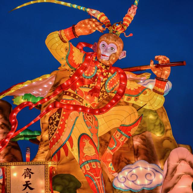 """""""Monkey God Lantern"""" stock image"""