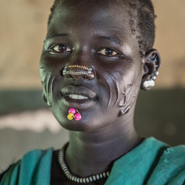 """Larim woman near Napotit (South Sudan)"" stock image"