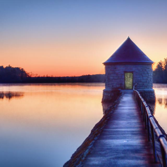 """Sunrise at waterworks"" stock image"
