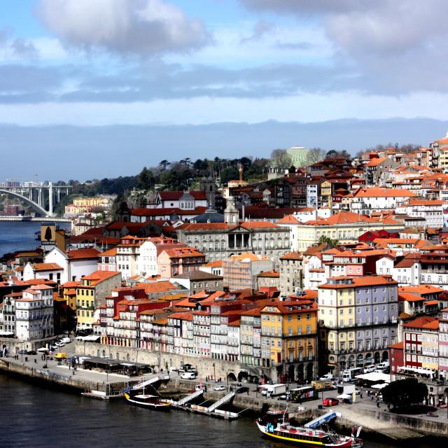 """View of Porto"" stock image"
