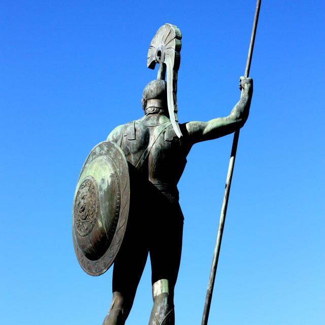 """""""Achilles Statue in Corfu"""" stock image"""