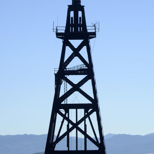 """Copper Mining headframe, Butte, Montana"" stock image"