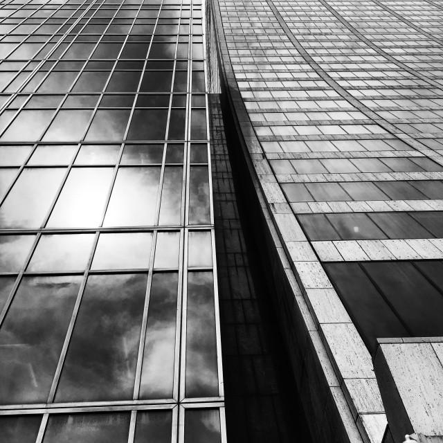 """NYC reflections, 2019"" stock image"