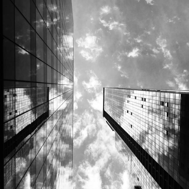 """NYC reflections 2., 2019"" stock image"