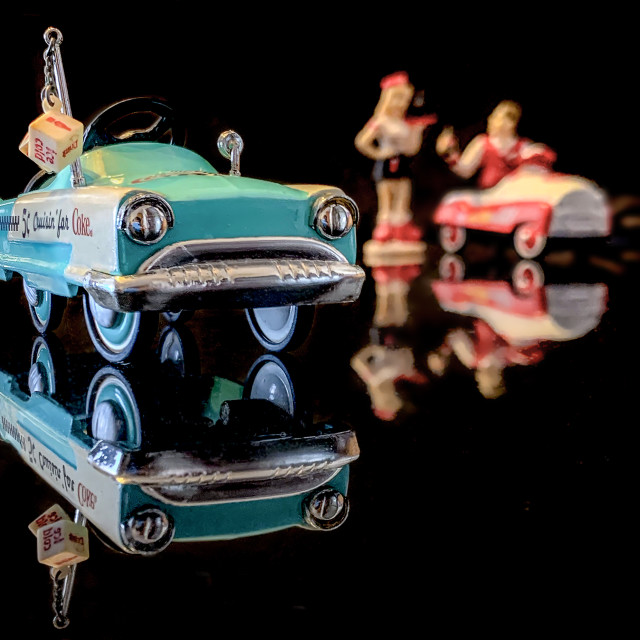 """Waitress Vintage Coke Cars Collectible 02"" stock image"