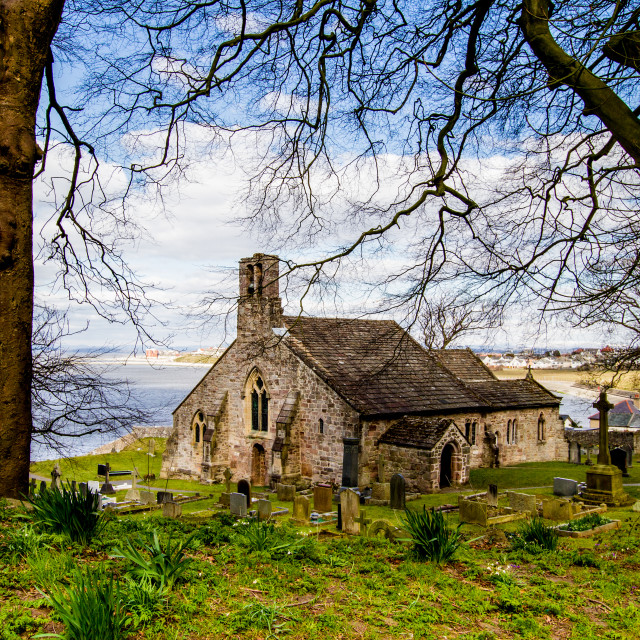 """St Peters Parish Church, Heysham"" stock image"