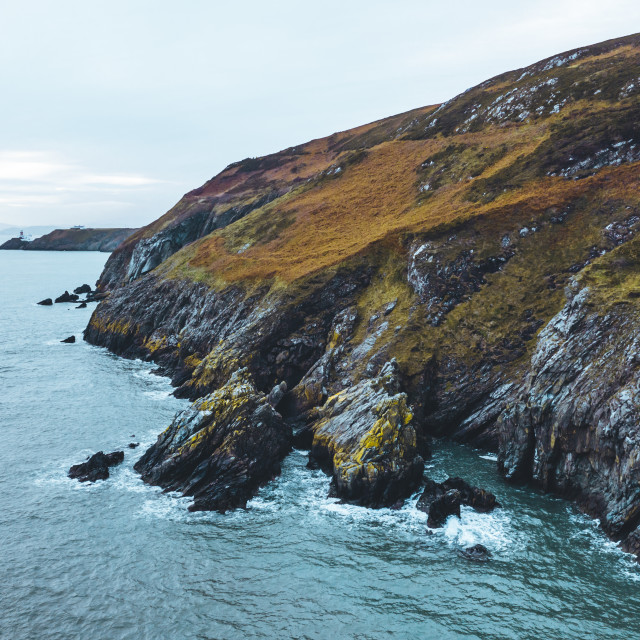 """Cliffs Of Howth"" stock image"