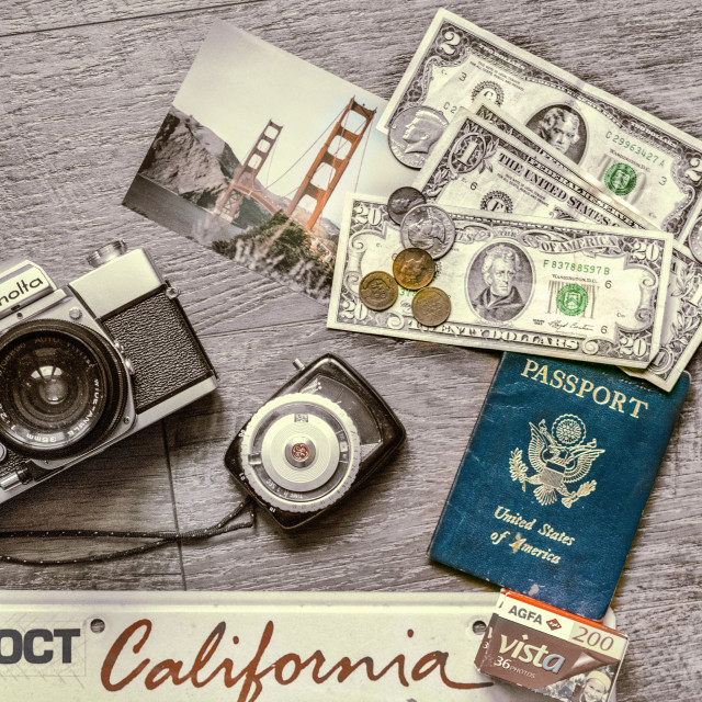 """Travel to San Francisco: $24 and change"" stock image"