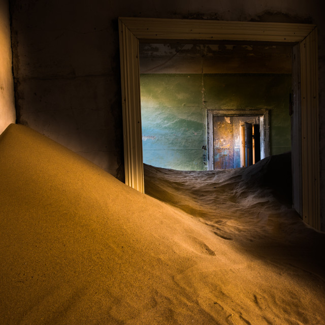 """Ghost City in Namib Desert"" stock image"