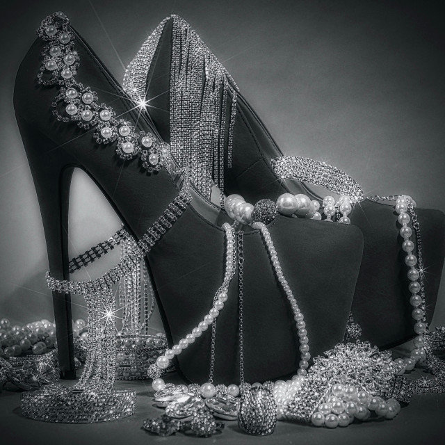 """Shoe Stories : Diamonds & Pearls"" stock image"