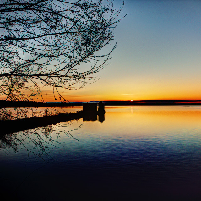 """Sunrise in Lakeville"" stock image"