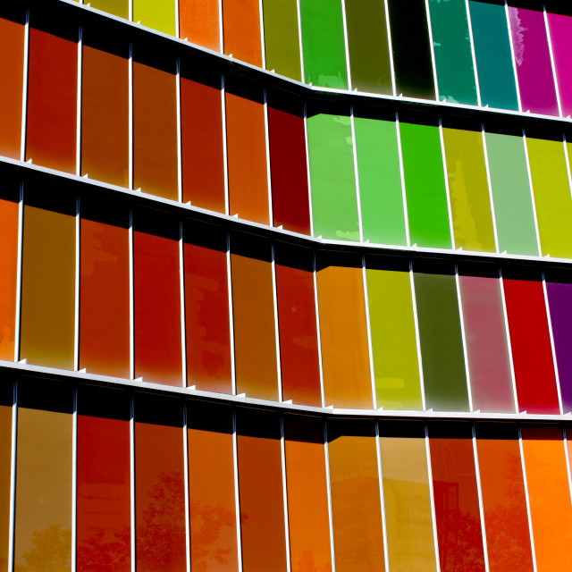 """Leon, Spain - The outside panels of the Museum of Modern Art"" stock image"